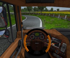 Daf Xf Leather, Wood, Carbon Interior v2 | ETS 2 Mods