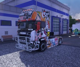 Scania Streamline Sticker skin | ETS 2 Mods