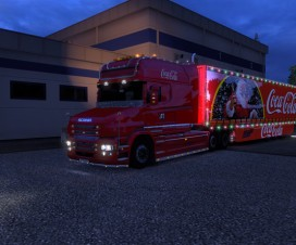 Scania T and Trailer Coca Cola XMAS | ETS 2 Mods