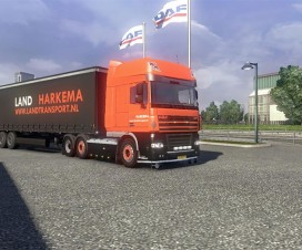 Land Harkema Skin for DAF XF | ETS 2 Mods