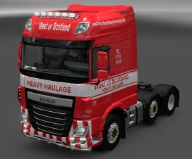 West of Scotland Skin for DAF XF Euro 6 | ETS 2 Mods