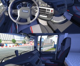 XF Euro 6 RED BLACK EVO | ETS 2 Mods