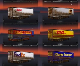 Skin Pack SDC Trailer (dirty trailers) | ETS 2 Mods