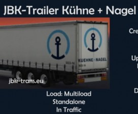 JBK trailer Kuehne and Nagel | ETS 2 Mods