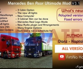 Mercedes Benz Axor Ultimate Mod v3.1 | ETS 2 Mods