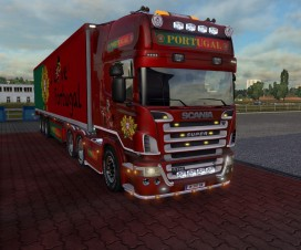 Scania R2008 50k Portugal Metallic Paint Job | ETS 2 Mods