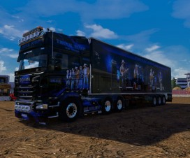 Scania skin Truck Stop On Tour | ETS 2 Mods