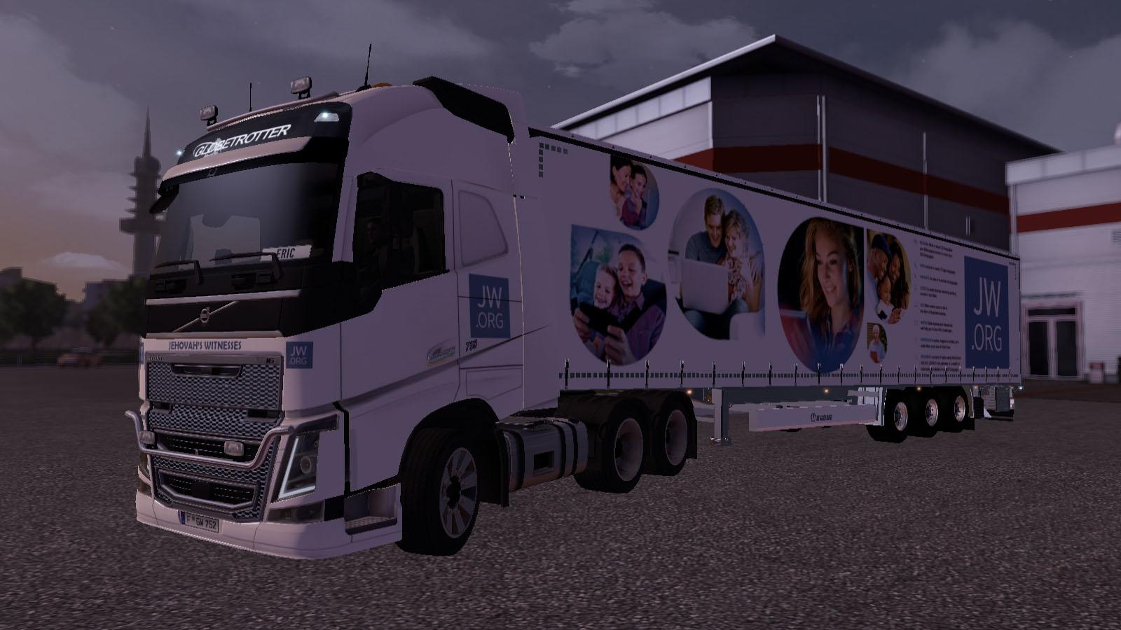 JW Org Skin For Volvo FH 2012 Truck Trailer Included