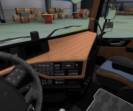 Leather interior for all trucks | ETS 2 Mods