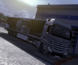Mercedes Benz Actros + Trailers   ETS 2 Mods