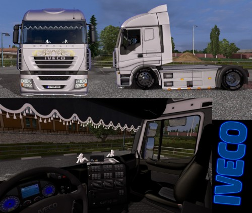 Low suspension, interior, green headlights, PPC 6.9 speeds, the engine ... Scania Trucks Interior