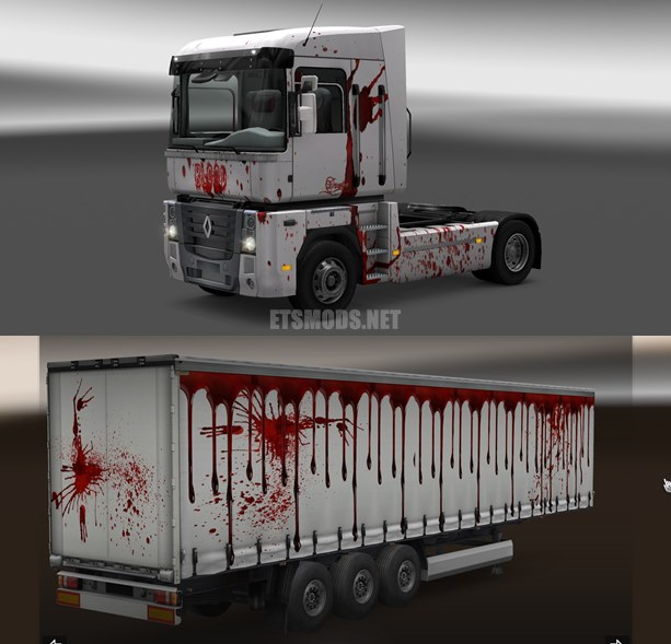Renault Magnum Blood Skin Trailer