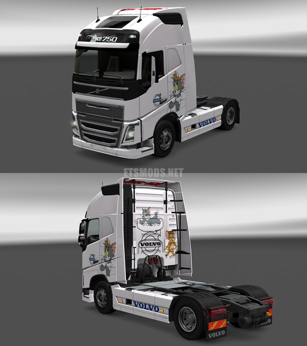 Volvo FH 2012 Tom and Jerry Skin