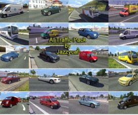 AI Traffic Pack by Jazzycat  v2.2 | ETS 2 Mods
