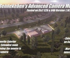 Bennekeben's Advanced Camera Mod | ETS 2 Mods