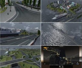 Bridge from Calais to Dover and City on Island v3.0 | ETS 2 Mods