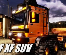 DAF Crawler High lift v1.16 | ETS 2 Mods