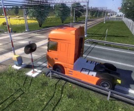 Long train for standart map (new train) | ETS 2 Mods