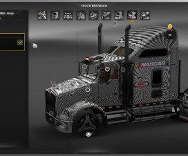 Kenworth T800 Nascar Set v1 | ETS 2 Mods