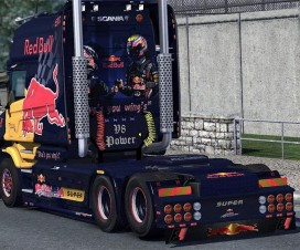 RedBull Scania T-cab EXC pack | ETS 2 Mods