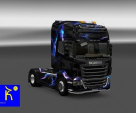 Scania Blue Wall Skin | ETS 2 Mods