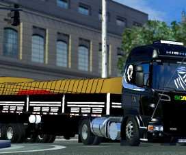 Scania Highline 2009 + Trailer | ETS 2 Mods