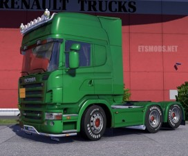 Scania R2008 side pipe v2 | ETS 2 Mods