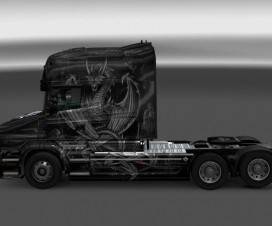 Scania T Silver Dragon v1 | ETS 2 Mods
