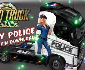 Volvo FH 2012 Sexy Police Skin + Trailer Standalone   ETS 2 Mods