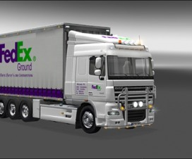 DAF XF Tandem Fedex Ground (1.16) | ETS 2 Mods