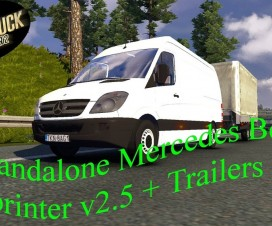 Mercedes Benz Sprinter 311CDI + Trailer (1.16) | ETS 2 Mods