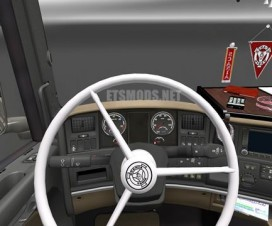 Scania Vabis White Steering Wheel