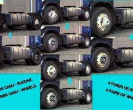 Accessories Casu – 4 pairs of wheels FIXED | ETS 2 Mods