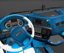 Daf Euro 6 Blue Dashboard & Interior | ETS 2 Mods