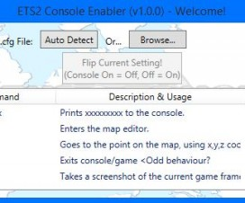 ETS2 Console Enabler/Disabler (Automatic) V1.0.0 | ETS 2 Mods