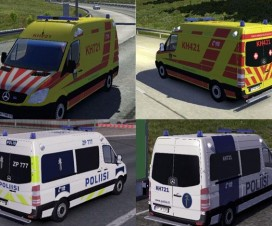 Fin Police and Ambulance AI Cars v2.2.1 | ETS 2 Mods
