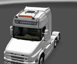 GTM Kelsa Double roofbar for SCS and RJL Scanias   ETS 2 Mods