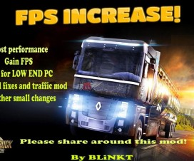 Increase and gain FPS v1.2 | ETS 2 Mods