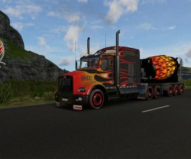 Kenworth T800 Hot Road combo pack + Cement Mixer | ETS 2 Mods