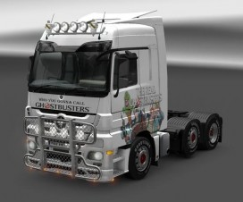 Mercedes Ghostbusters Skin | ETS 2 Mods