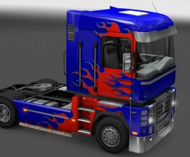 Renault Magnum Flames Paint Job | ETS 2 Mods