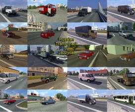 Russian Traffic Pack by Jazzycat  v1.3 | ETS 2 Mods