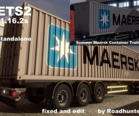 Summer Chassi with Maersk Container | ETS 2 Mods