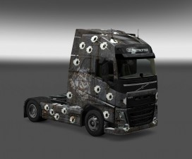 Steel with bullet holes for all truck | ETS 2 Mods