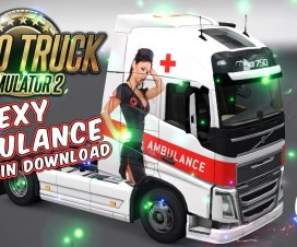 Volvo FH 2012 2 Sexy Ambulance Skins + Trailer | ETS 2 Mods