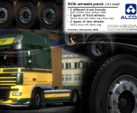 50k MAN Alcoa Wheels Pack 1.17 | ETS 2 Mods
