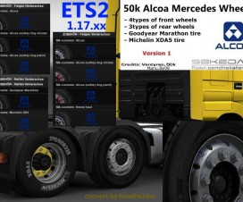 50k Mercedes Alcoa Wheels Pack v1 | ETS 2 Mods