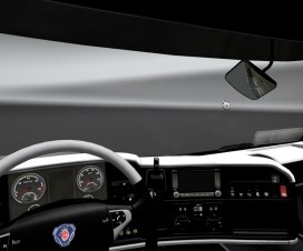 Scania R interior white | ETS 2 Mods