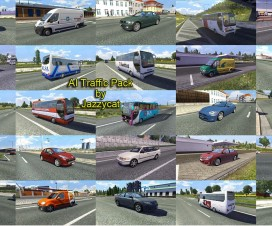 AI Traffic Pack by Jazzycat  v2.4 | ETS 2 Mods