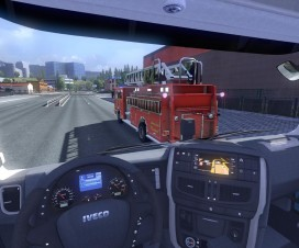 blaze fire truck from the game saints row 3 in traffic 2